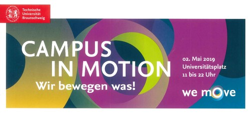 Campus in Motion am 2. Mai